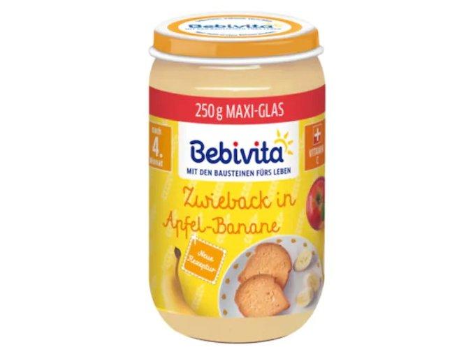 Bebivita jablko, banán, suchary 250g