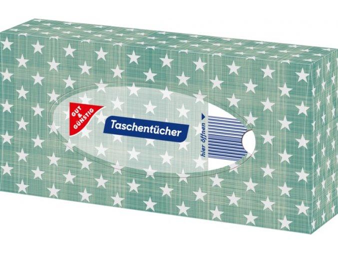 G&G Papírové kapesníky v boxu 4 vrstvé, 100 ks