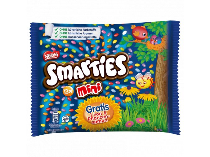 Nestle Smarties mini (lentilky) 13ks, 187 g