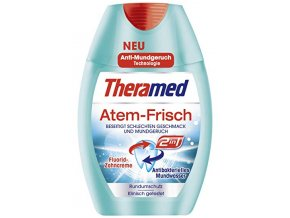 Theramed 2 in 1 Svěží dech Zubní pasta + ústní vodal 75 ml
