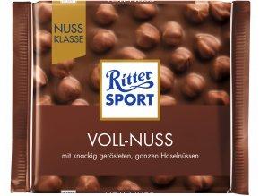 Ritter Sport Voll Nuss mléčná čokoláda s oříšky 100g