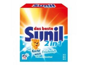 Sunil 2v1 prací prášek s vůní Kuschelweich svěží vánek 4,76 kg 70 praní