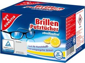 G&G Vlhčené čistící ubrousky na brýle 52 ks