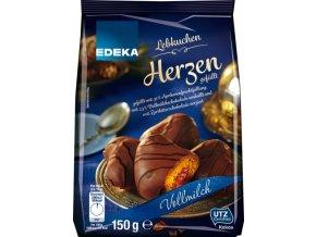 Edeka Perníčky plněné meruňkouvou náplní, mléčná čokoláda 150g