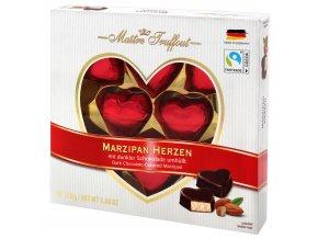 Truffout Marcipánová srdíčka v jemně hořké čokoládě 110g