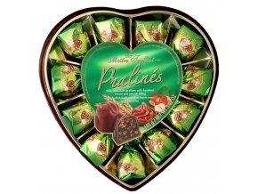 Truffout Srdce s pralinkami z mléčné čokolády s kousky oříšků 165g
