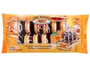 Jaffa slepované sušenky s meruňkovou a smetanovou náplní 380g