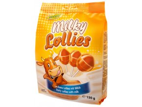 Woogie Karamelová lízátka Milky Lollies 150g
