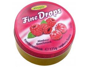 Woogie Fine Drops bonbóny v plechové dóze, malina 175g