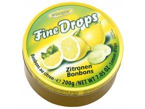 Woogie Fine Drops bonbóny v plechové dóze, citrón 200g