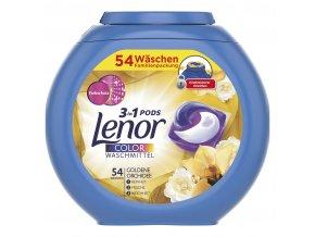 Lenor Color 3v1 kapsle na praní, zlatá orchidej, 54 dávek