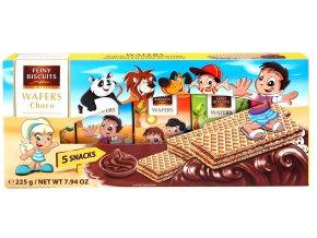 Dětské oplatky s čokoládovým krémem 5 ks x 45g, 225g
