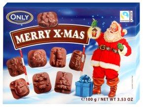 Only Merry X mas čokoládové figurky 100g