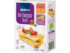 Edeka Bio bezlepkový křupavý chléb 130g