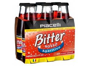 Piacelli Bitter rosso nealkoholický aperitiv 6 x 98ml