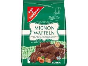 G&G Mignon oplatky s čokoládou plněné lískooříškovým krémem 400g