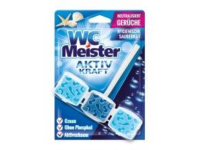 WC Meister Aktiv Kraft Závěsný blok do WC ocean 45g