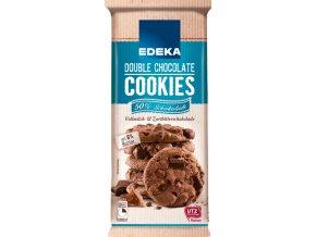 Edeka Premieum Cookies s dvojitou čokoládou 200g