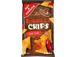 Edeka Tortilla chips, HOT CHILI, 300 g