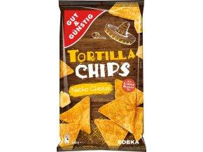 Edeka Tortilla chips, Nacho se sýrem, 300 g