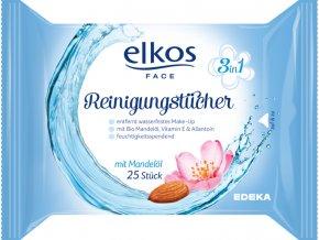 Elkos Čistící pleťové ubrousky 3v1 s bio mandlovým olejem 25 ks