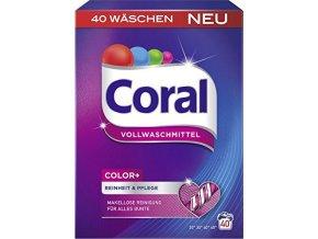 Coral Color+ prací prášek na barevné prádlo 40 PD 2,4kg