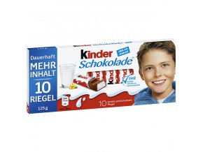 Ferrero Kinder čokoláda, 10ks 125g