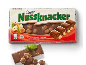 Choceur Nussknacker mléčná čokoláda s lískovými ořechy 100g