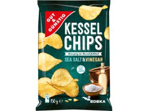 G&G Kotlíkové chipsy Mořská sůl & Ocet 150g
