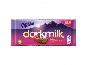 Milka DARKMILK malina mléčná alpská čokoláda 85g