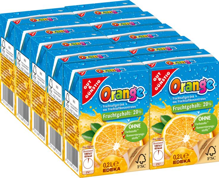 G&G Pomerančový džus pro děti 10 x 200ml Akční cena