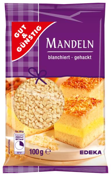G&G Mandle - nasekaná, blanžírovaná 100g
