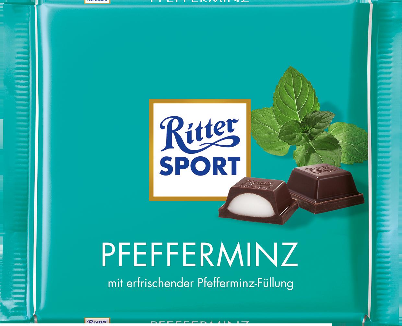 Ritter Sport Pfefferminz peprmintová čokoláda 100 g