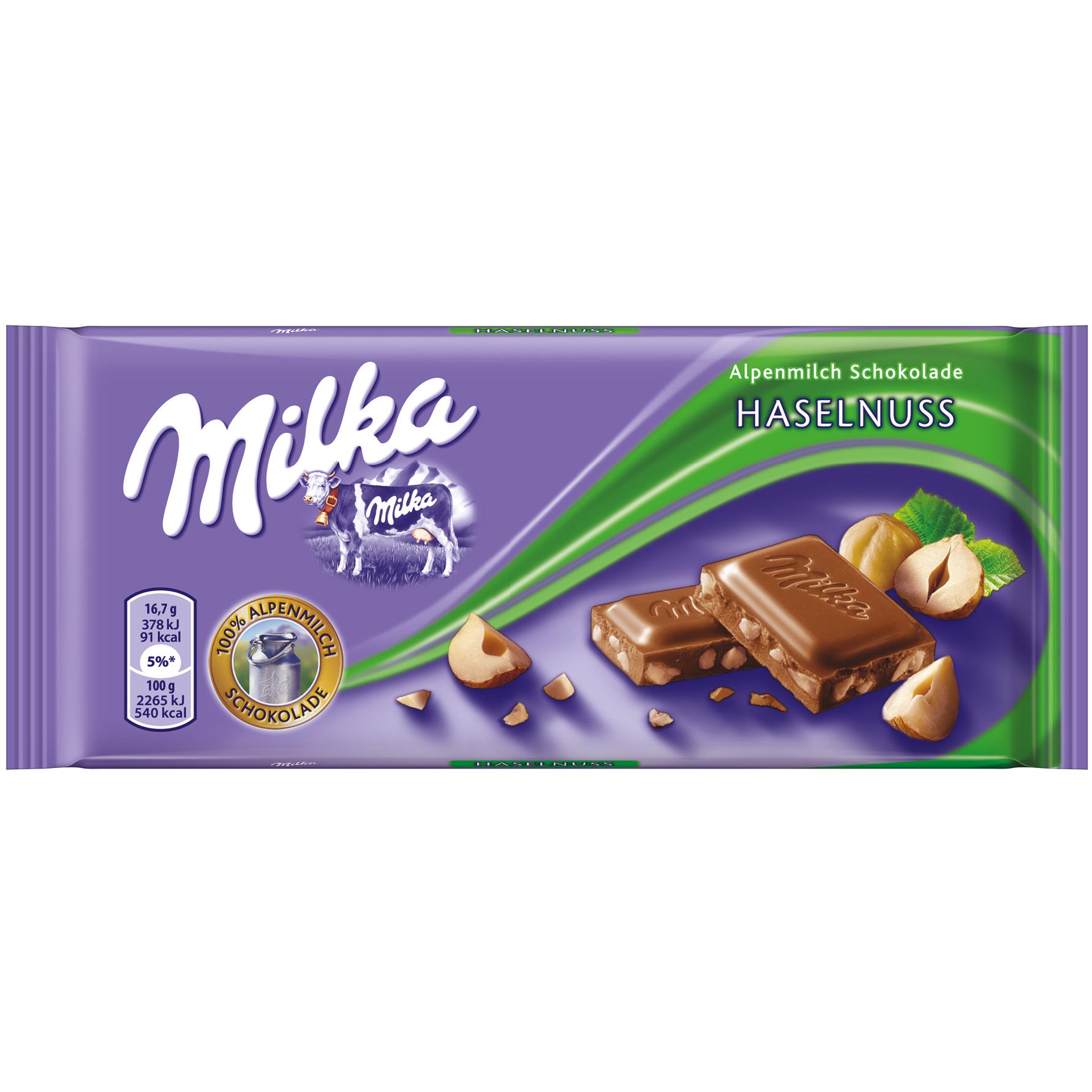 Milka čokoláda s drcenými jádry lískových ořechů 100g