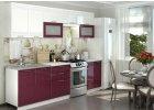 Kuchyně na míru GREECE bílá/granátový metalic