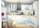 Kuchyně na míru PRAGA bílá/wenge