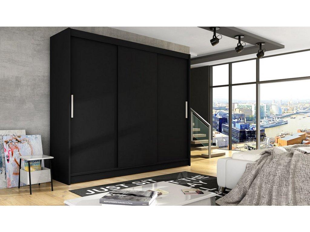 Šatní skříň ADRIA II černá