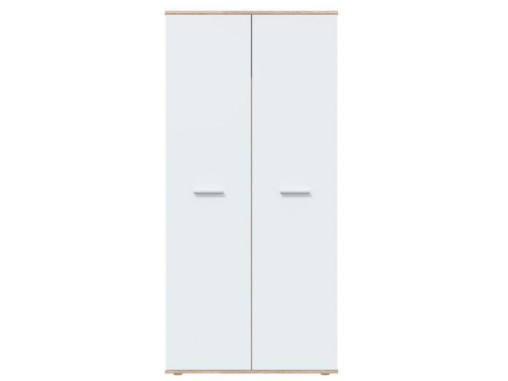 Šatní skříň DOMINO sonoma/bílá