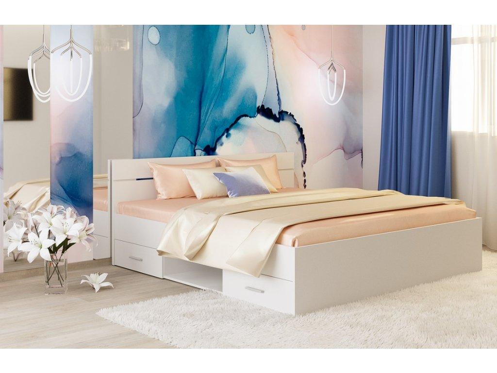 Postel 180x200 cm DREAM bílá mat