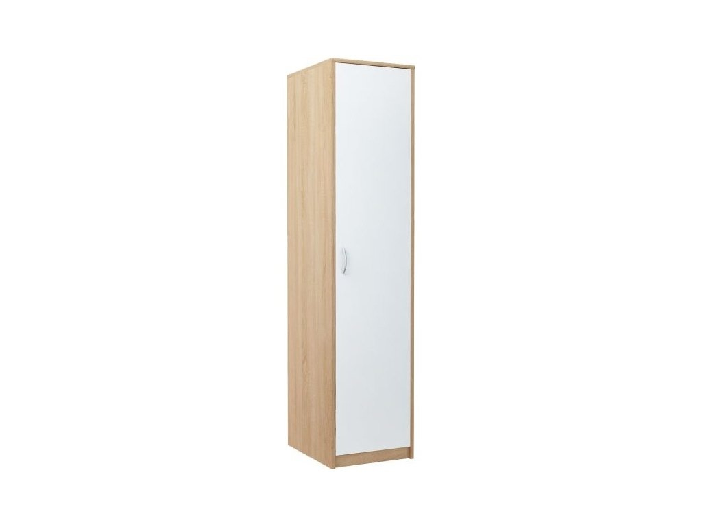 Šatní skříň VIKA 1D dub sonoma/bílá