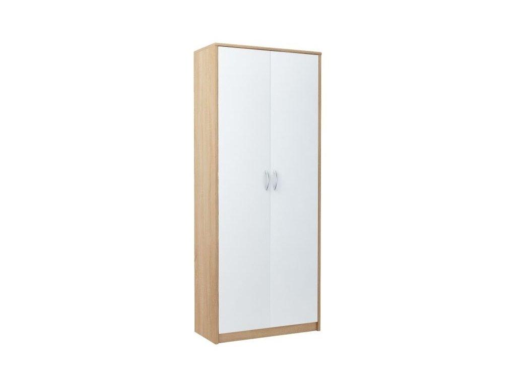Šatní skříň VIKA 2D dub sonoma/bílá