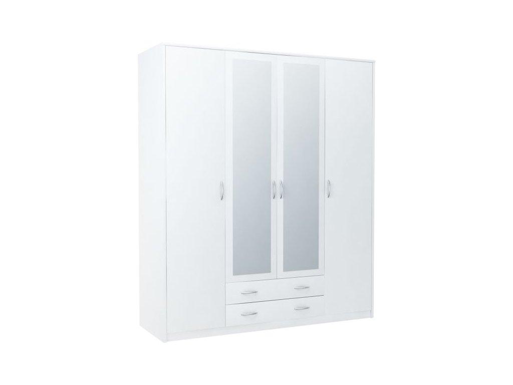 Šatní skříň VIKA 4D2S bílá