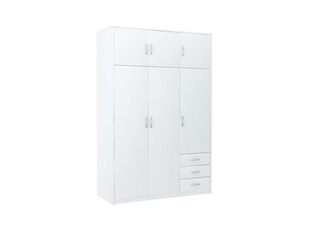 Šatní skříň VIKA 6D3SZ bílá
