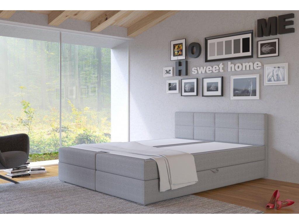 Postel s matrací s ÚP TISA 180x200cm (PUR - I91)