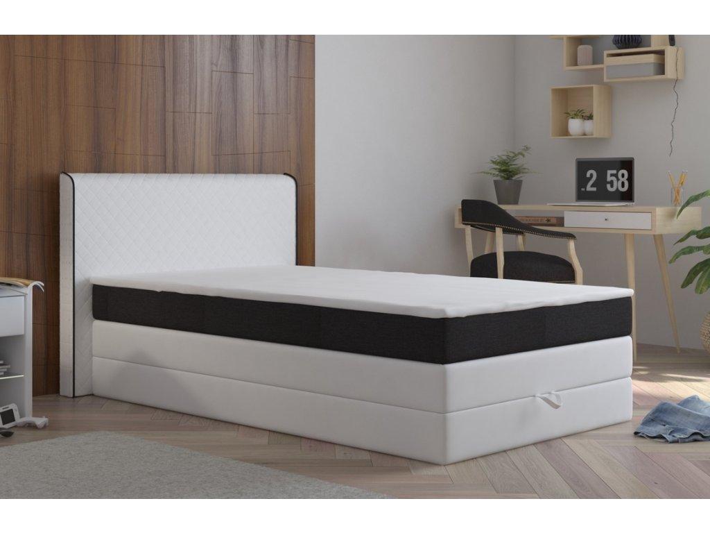 Postel s matrací a ÚP STANFORD 140x200cm (PUR - M120/I100)