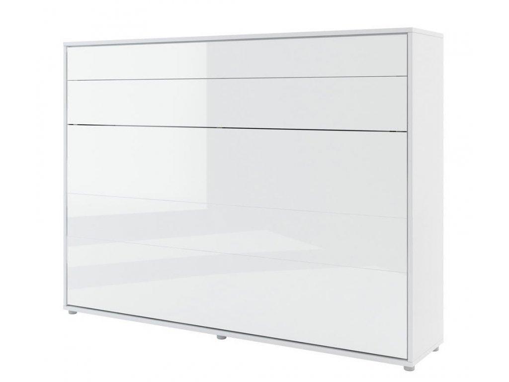 Výklopná postel 140 REBECCA bílá lesk/bílá mat