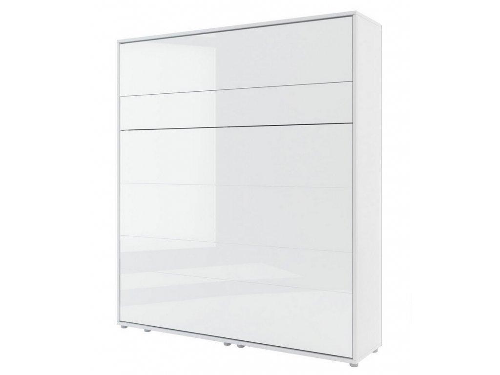 Výklopná postel 180 REBECCA bílá lesk/bílá mat