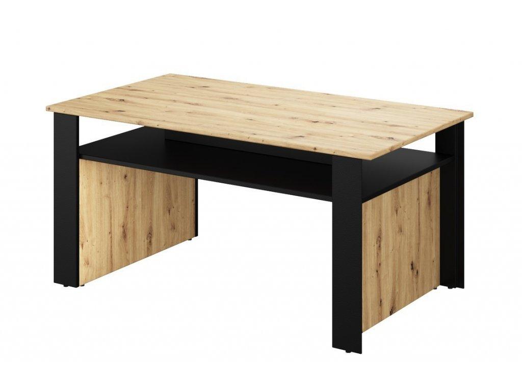 Konferenční stolek TOPRI 07 dub artisan/černá