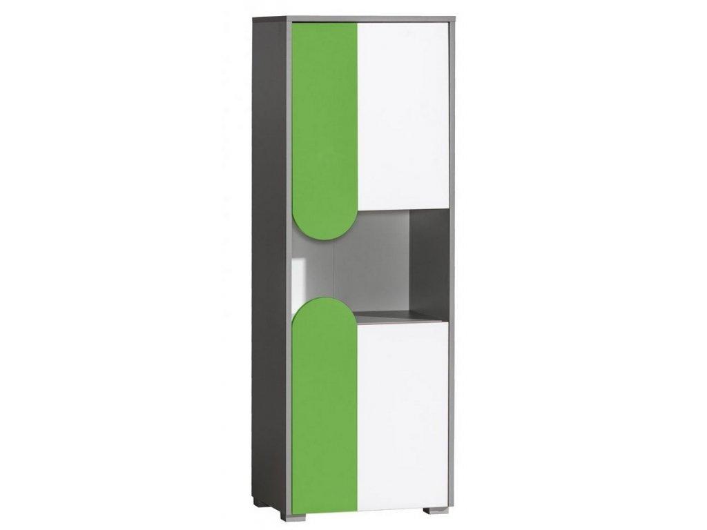 FUTURO F4 skříňka grafit/bílá/výběr barev