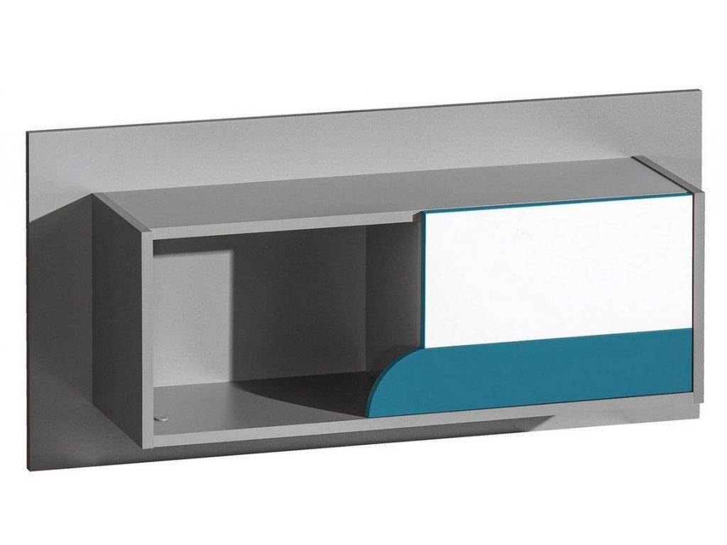 FUTURO F9 závěsný regál grafit/bílá/výběr barev